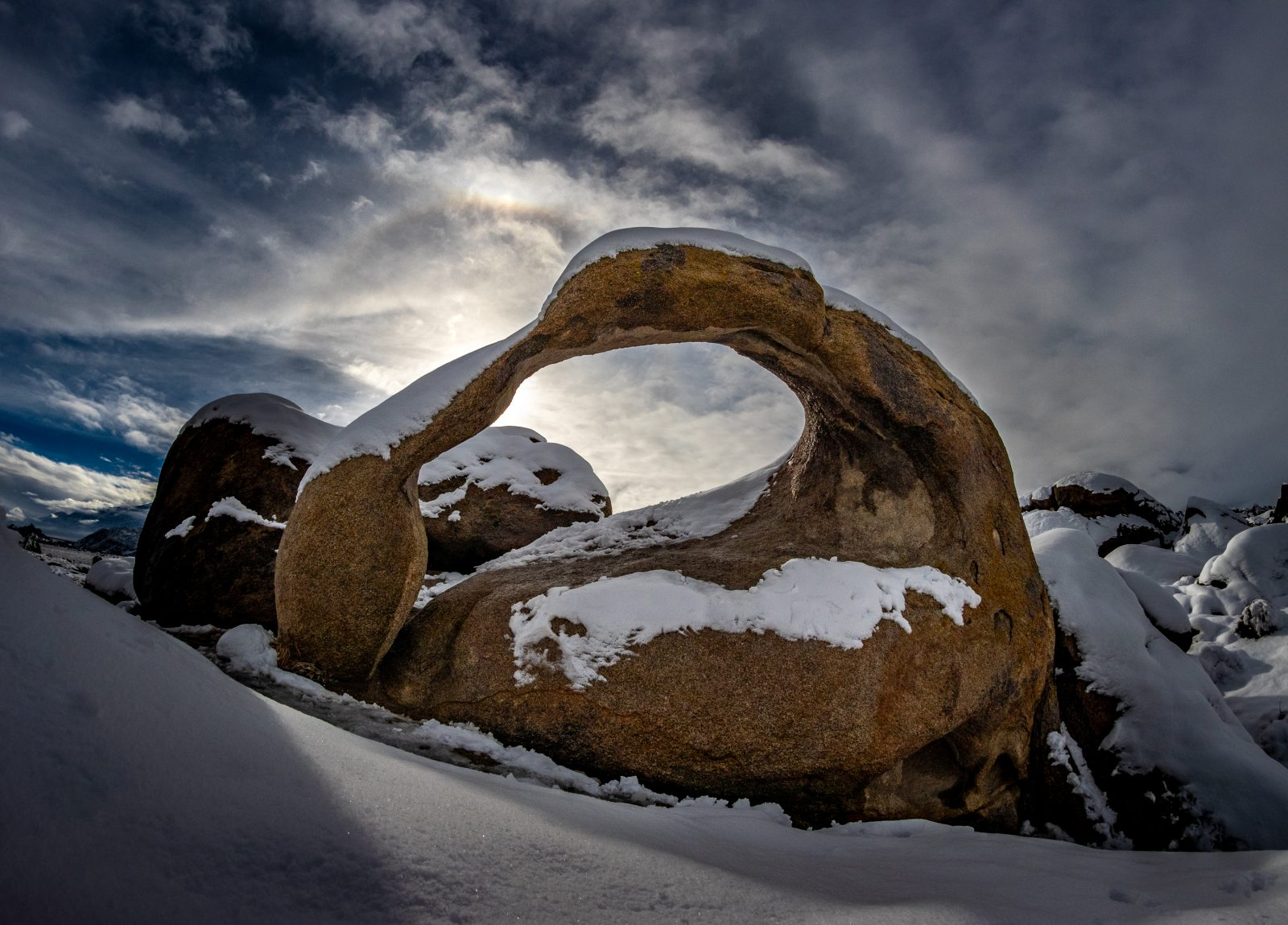 Snowy Mobius Arch