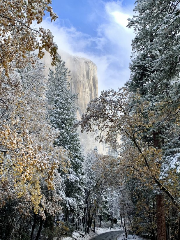 Snow Dusted El Capitan