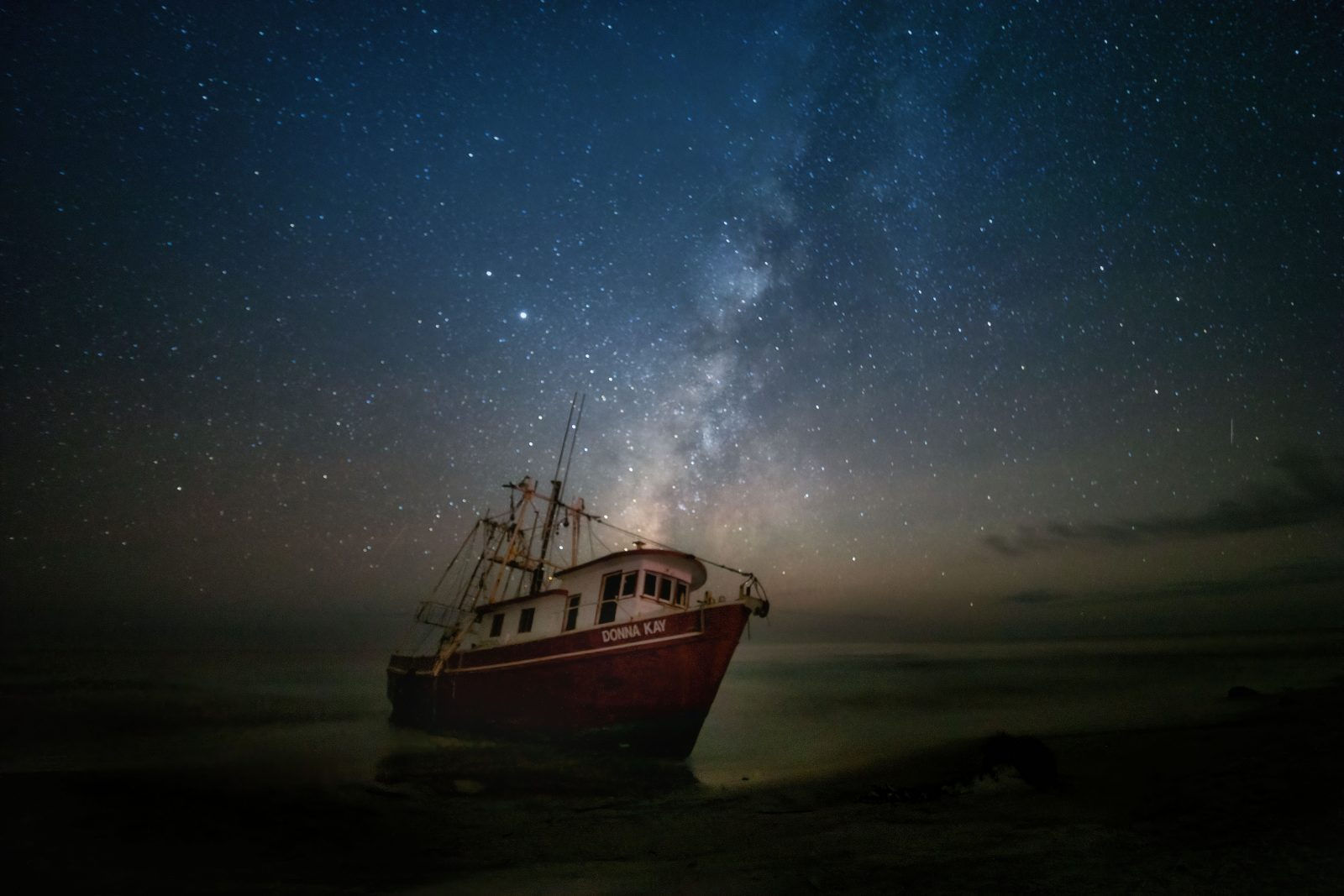 Milky Way over Fishing Boat