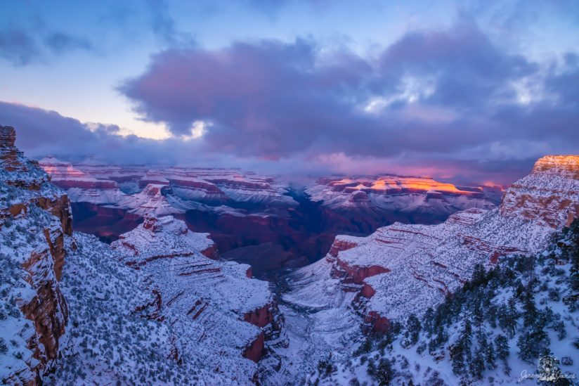 Winter Sunset at the Grand Canyon