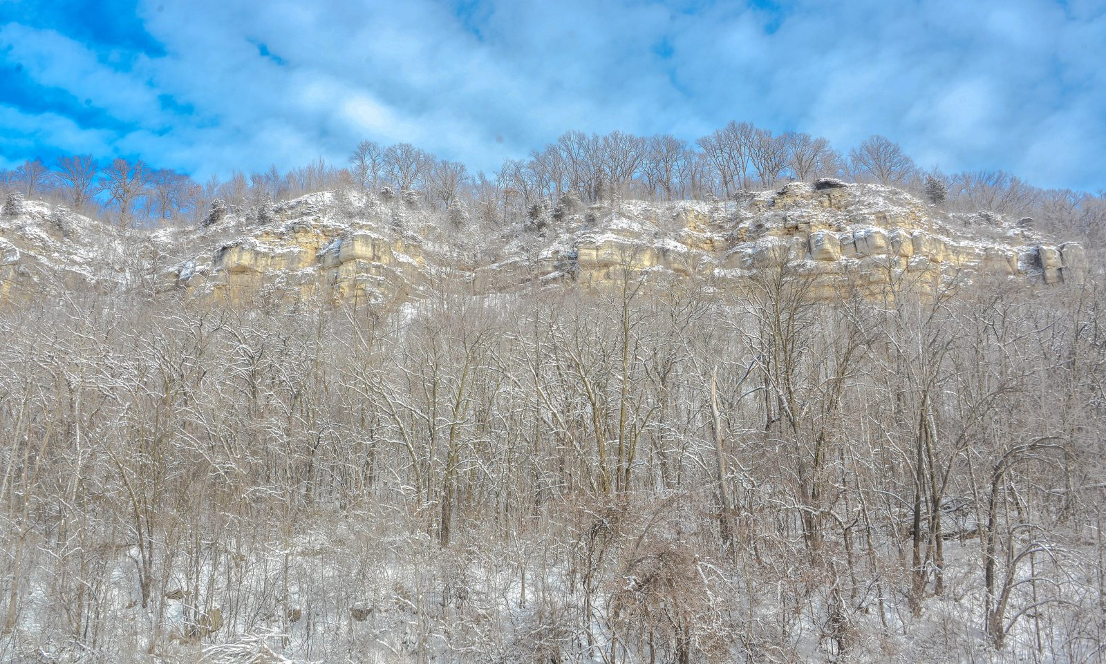 Snow Covered Bluffs