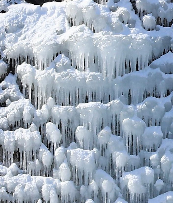 Icy water fall