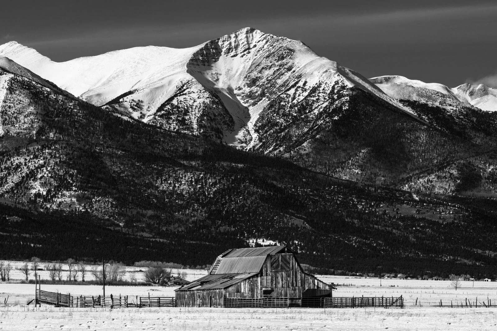 Westcliffe Barn and Mountains