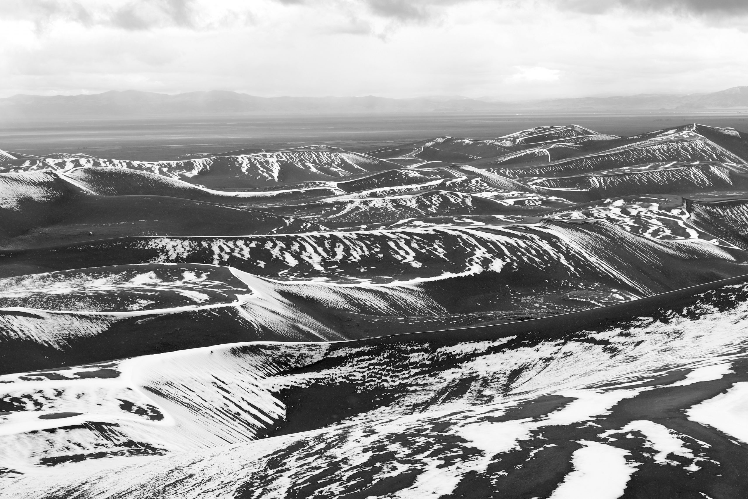 Late Spring Snow, Melting Early #4 (Great Sand Dunes National Park)