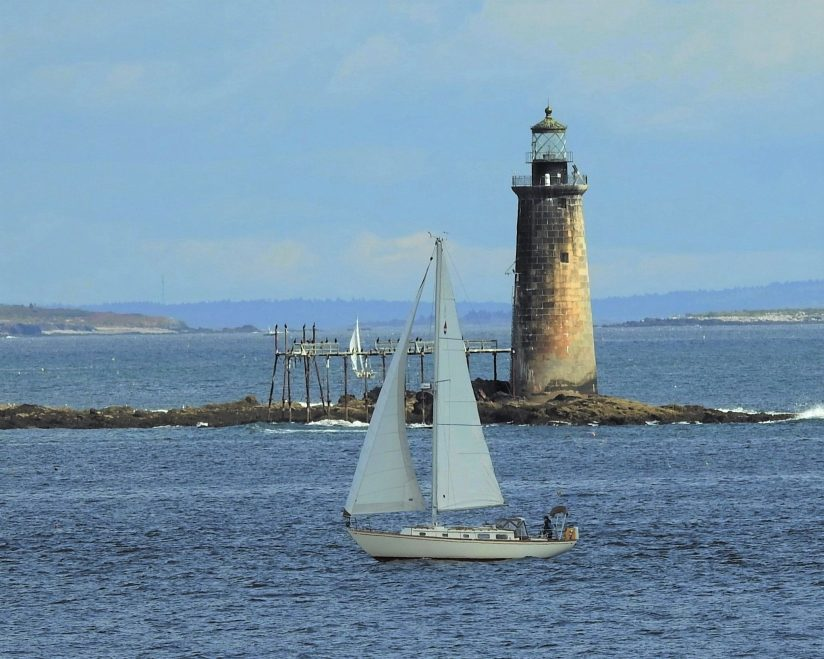 Ram Island Ledge Light near Portland Maine