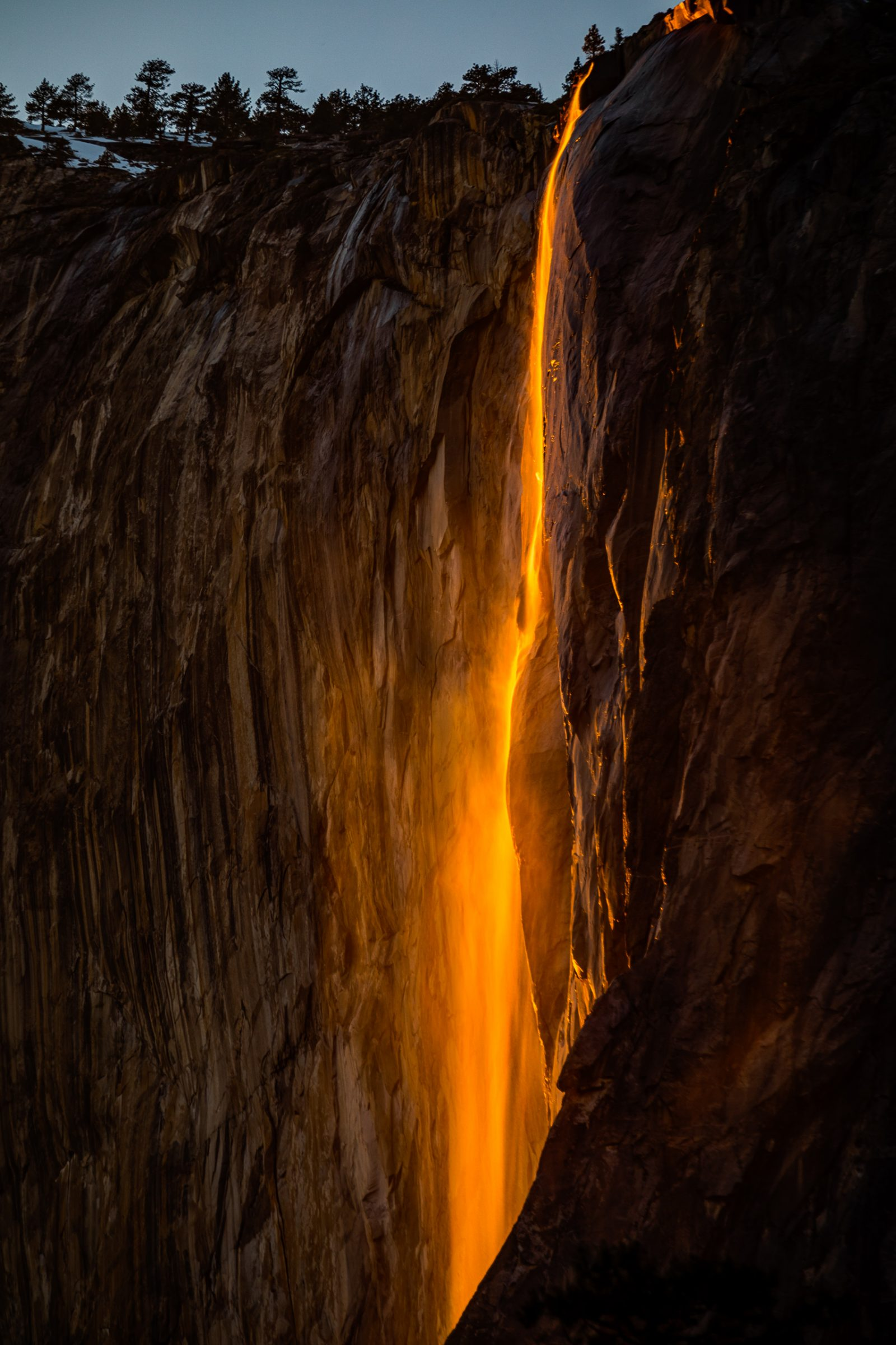 Last Light on Horsetail Fall