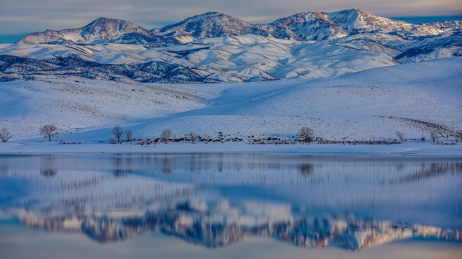 Three Sisters Winter Reflection