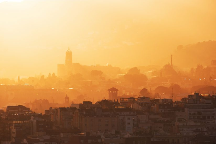 Sunset in the old city