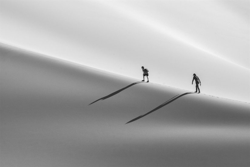 Hiking Up the Dunes