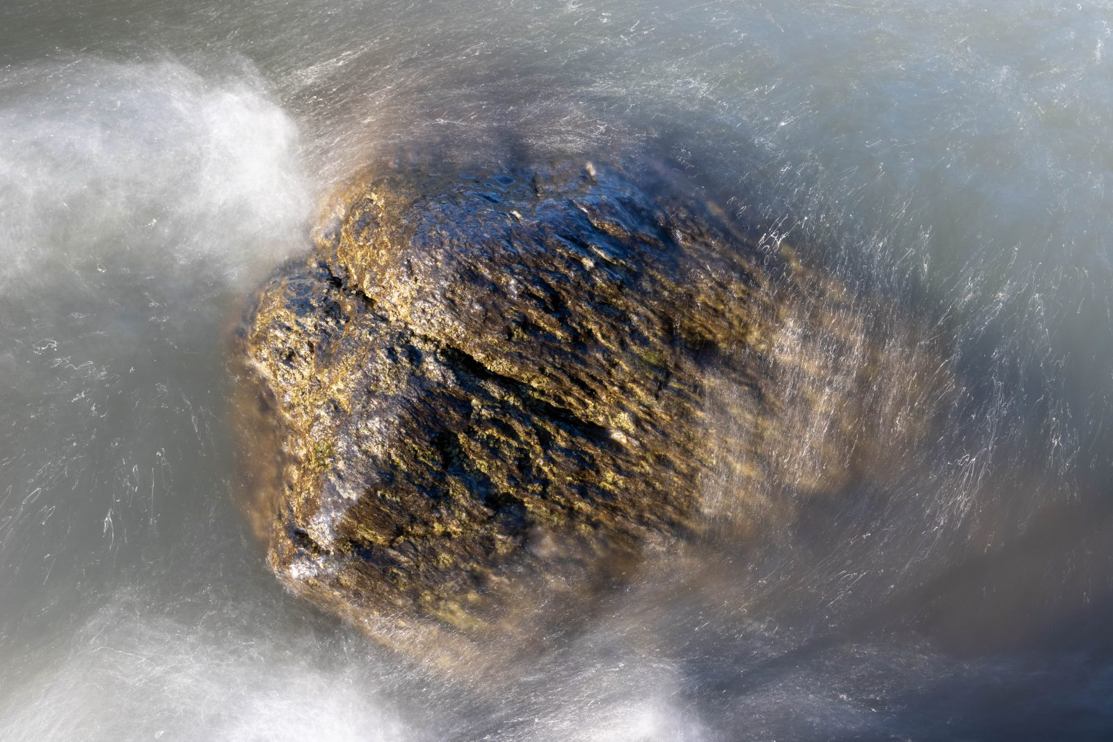 Water over rock