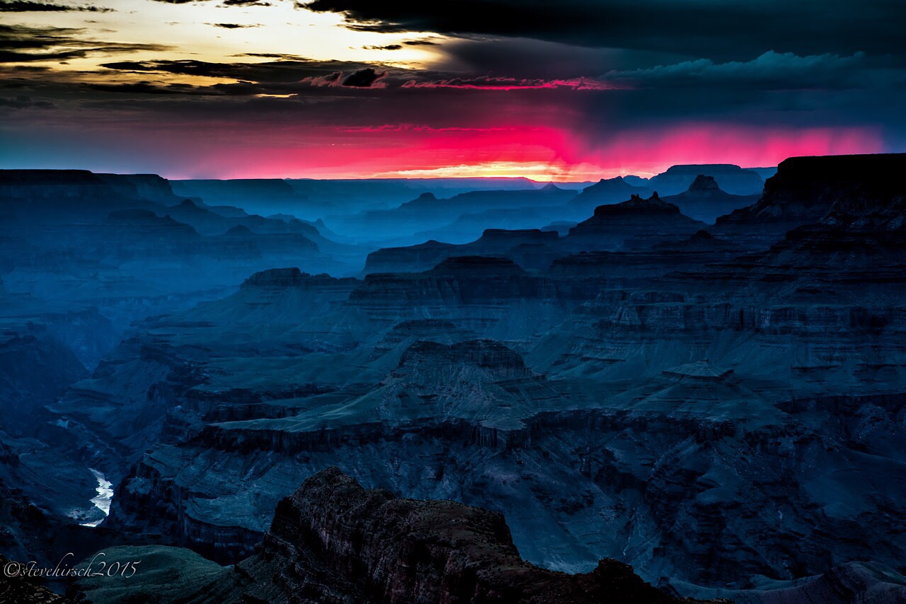 Sunset storm over the Grand Canyon