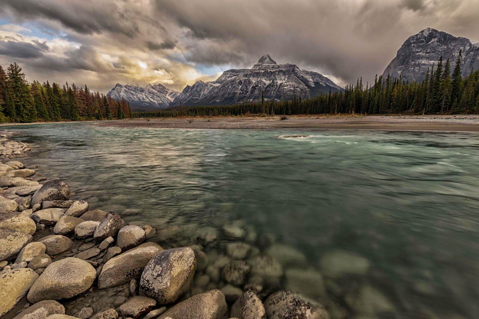 Canadian Rockies before the storm