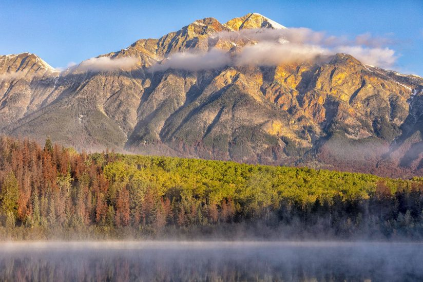 Early fall morning in the mountains