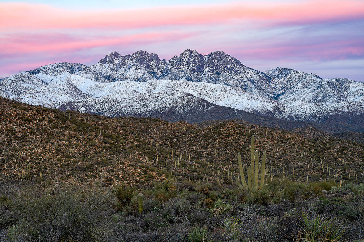 Cotton Candy Skies Over Four Peaks