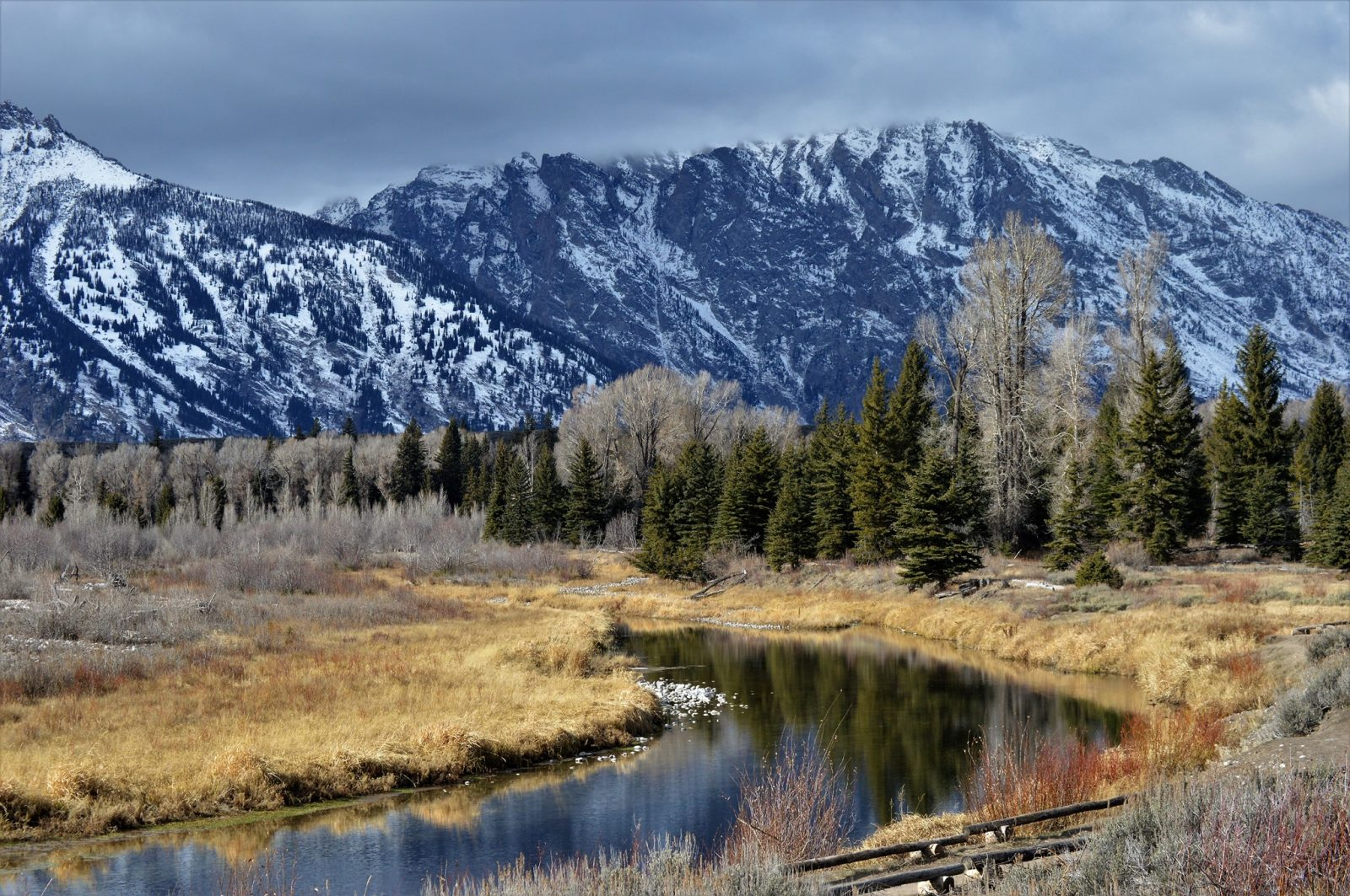 Grand Tetons early winter.