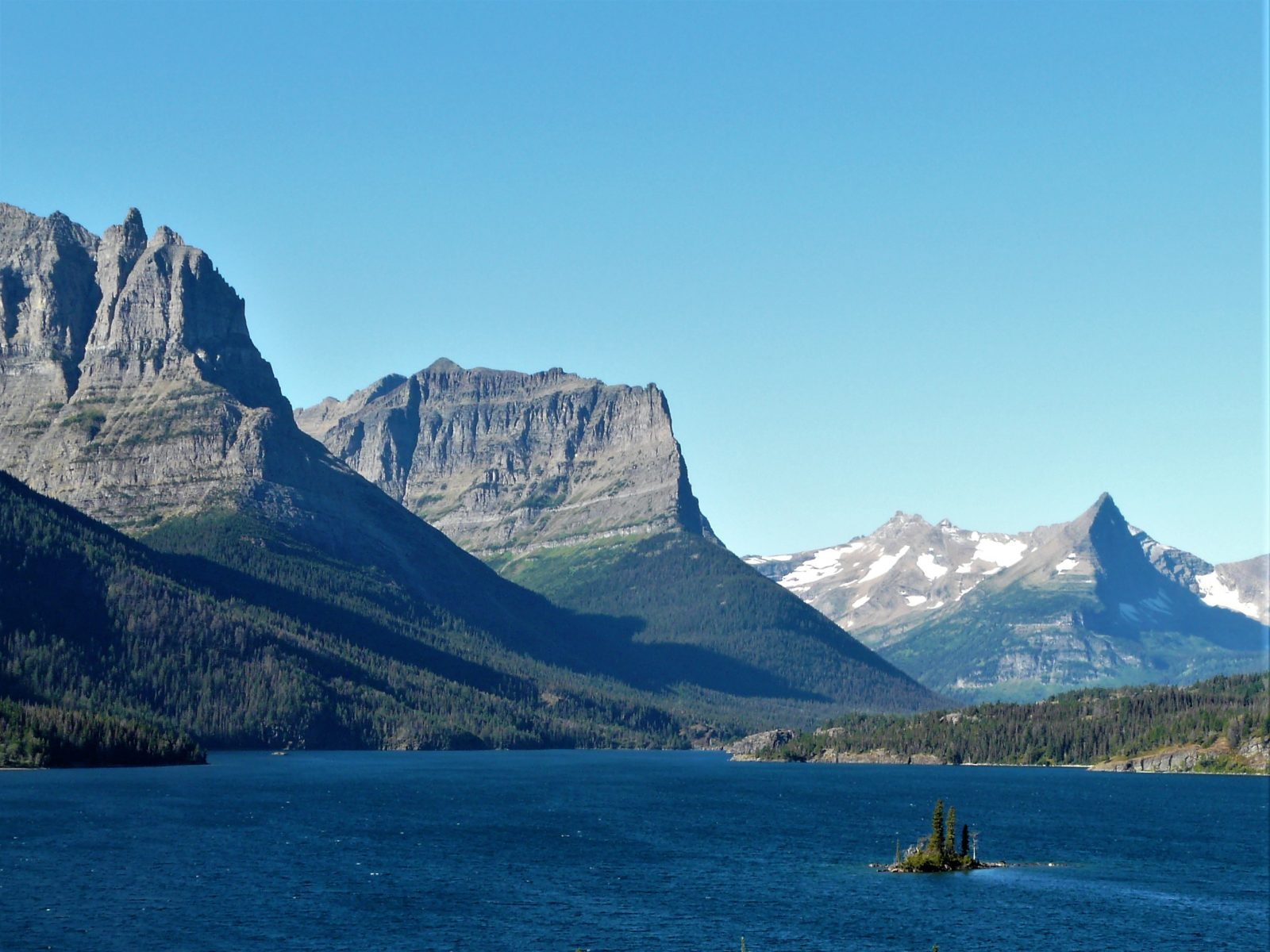 Mountains near Saint Mary Lake