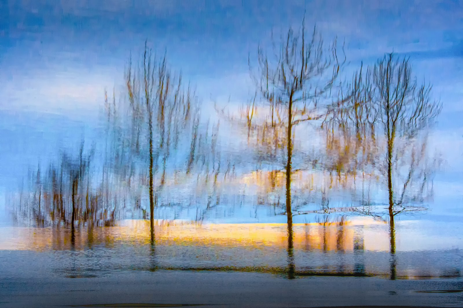 Scenery created by reflection