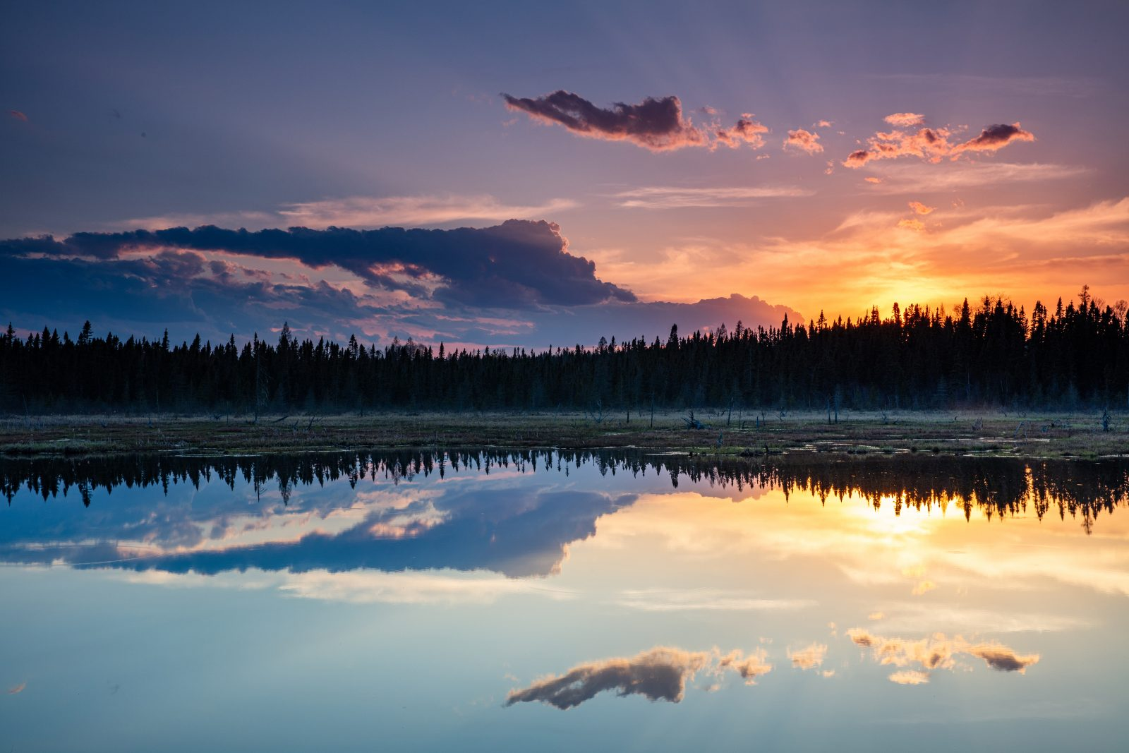 Candy Sunset Reflections