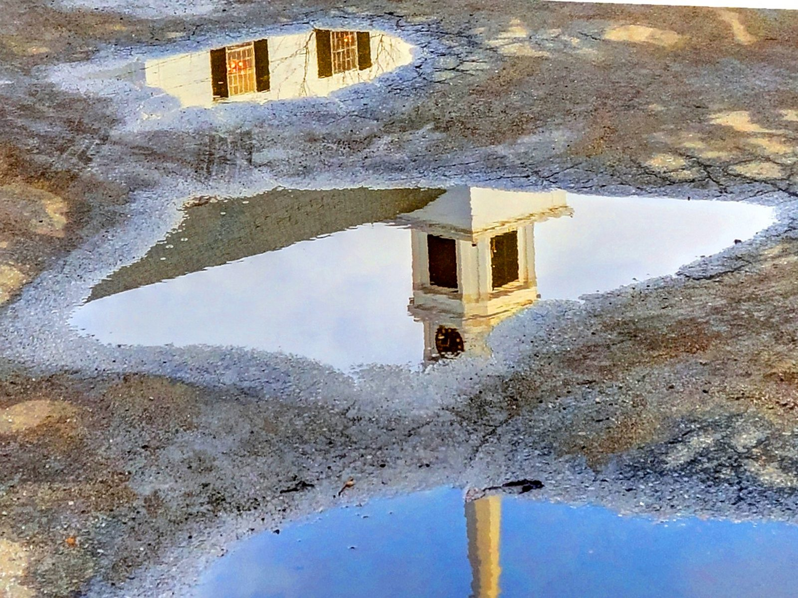 Puddle Reflections of Church