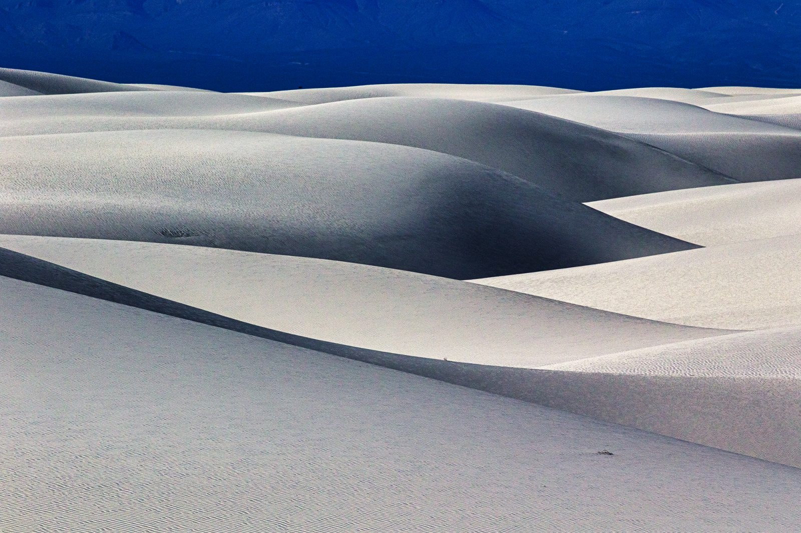 The structure of the body created by shadows in the desert