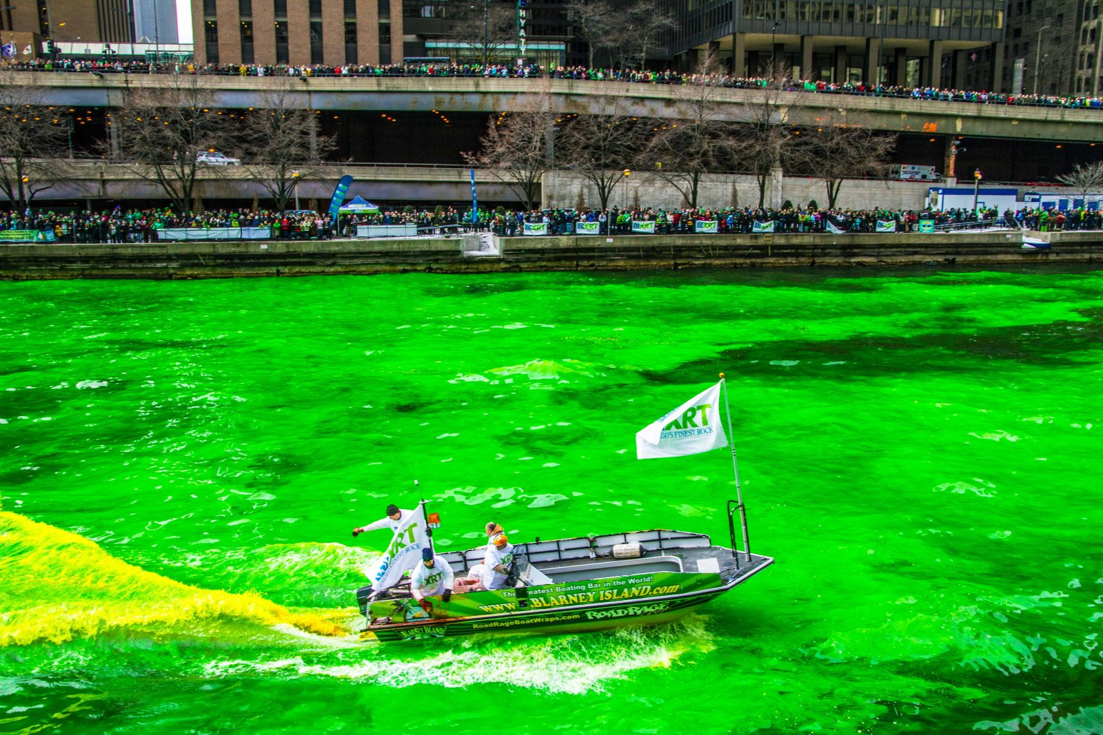 Dyeing the Chicago River
