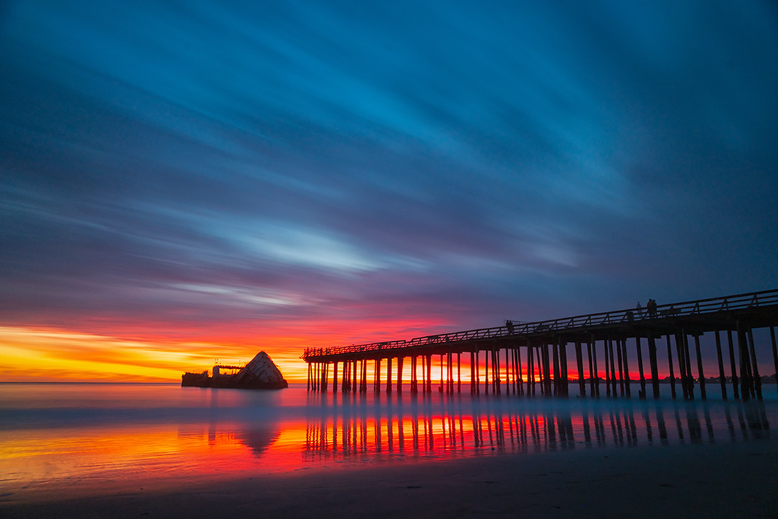 Sunset at Seacliff State Park