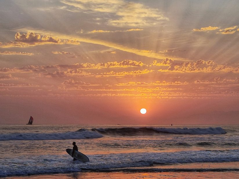 Sunset with Surfer