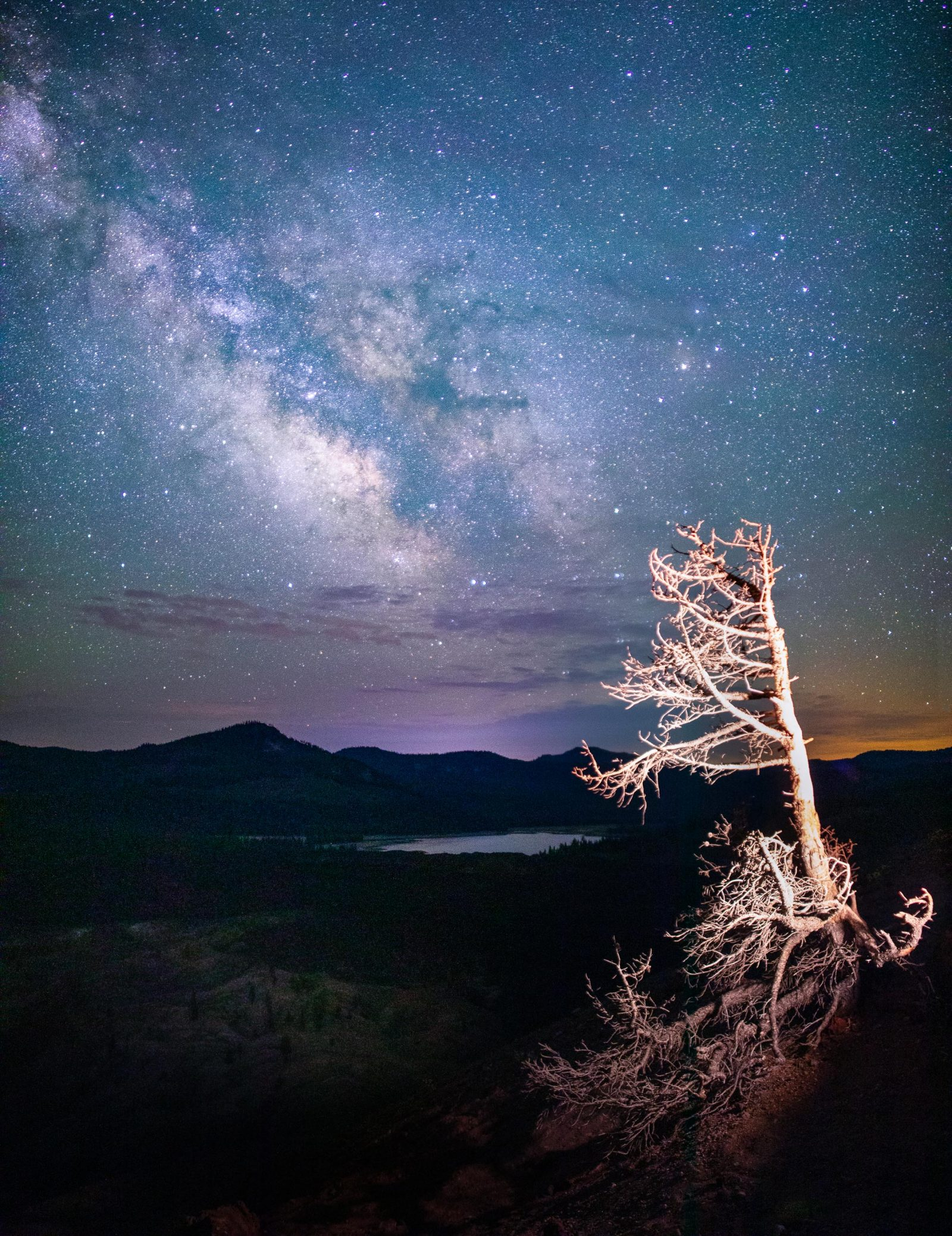 Milky Way View from Cinder Cone, Lassen Volcanic National Park