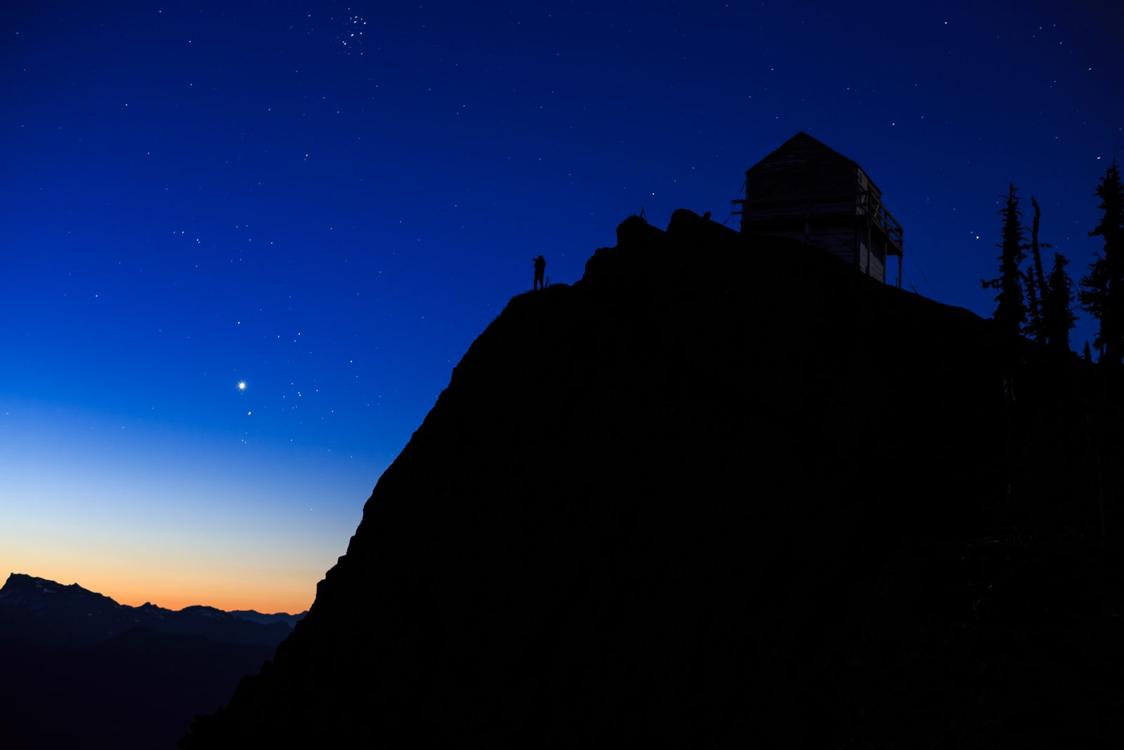 Morning Blue Hour At High Rock Lookout