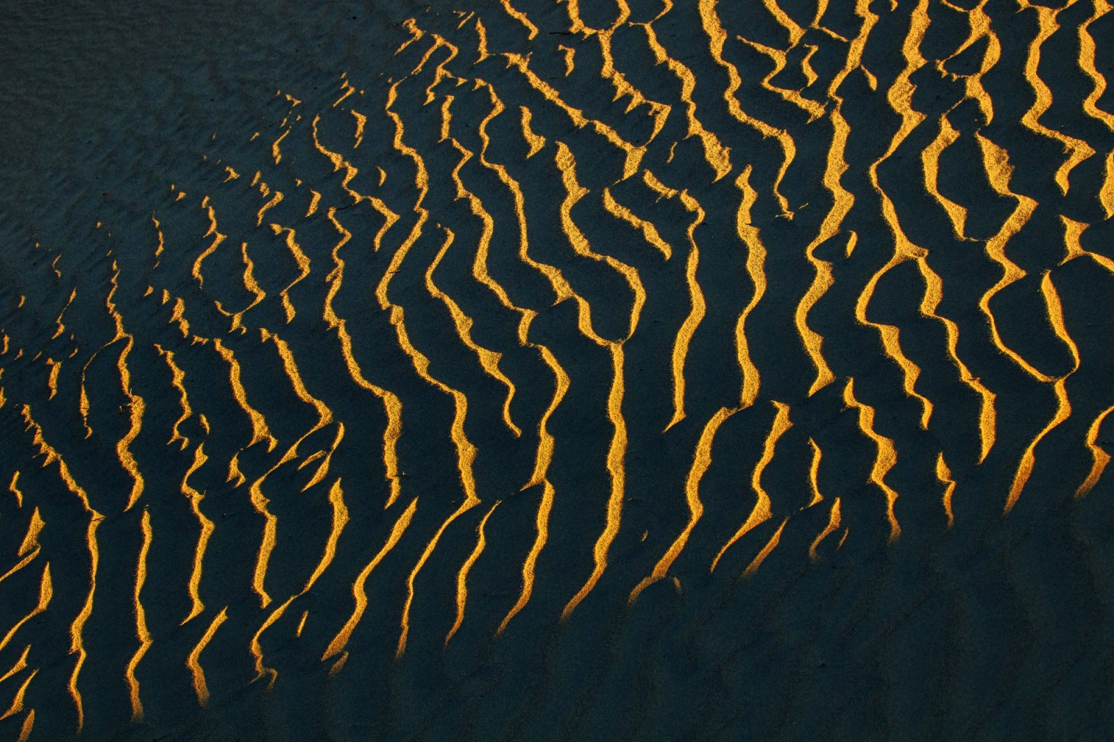 Light in the shape of a wave