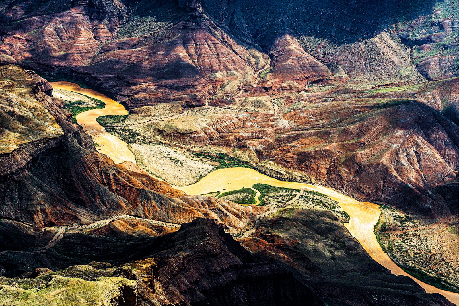 The canyon's meandering river