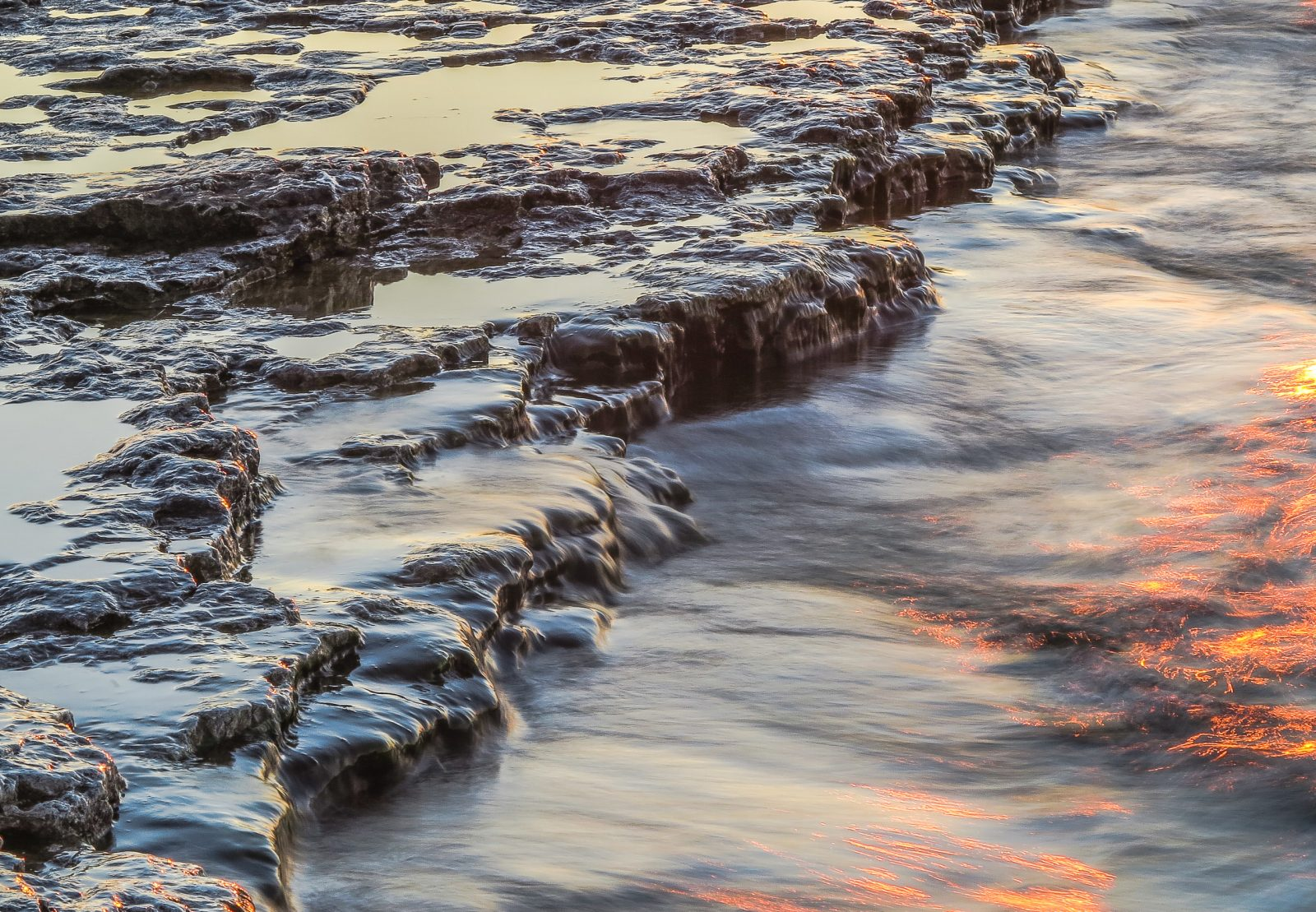 Water Over the Rocks