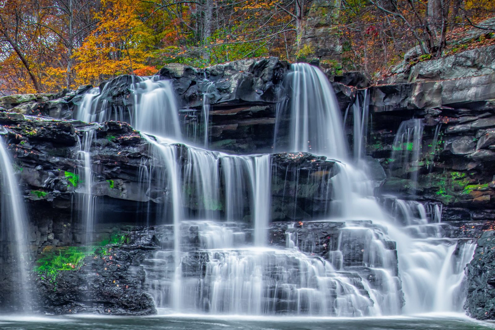 Waterfall in New River Gorge