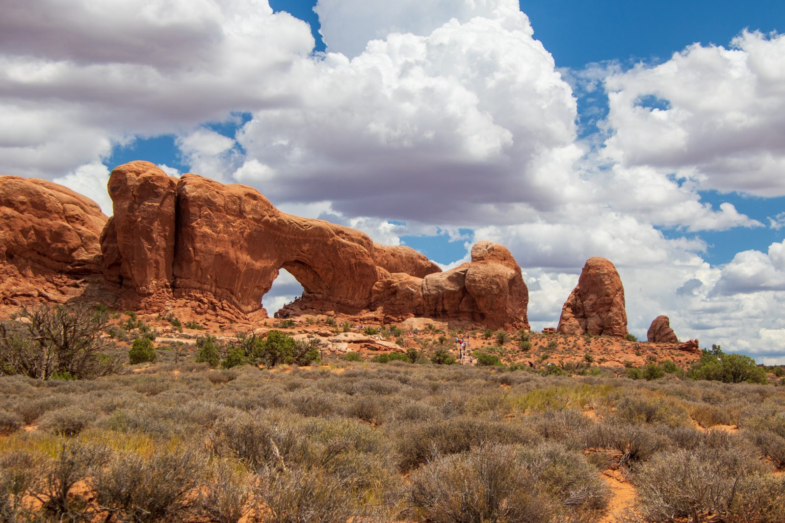 Summer Clouds at Arches