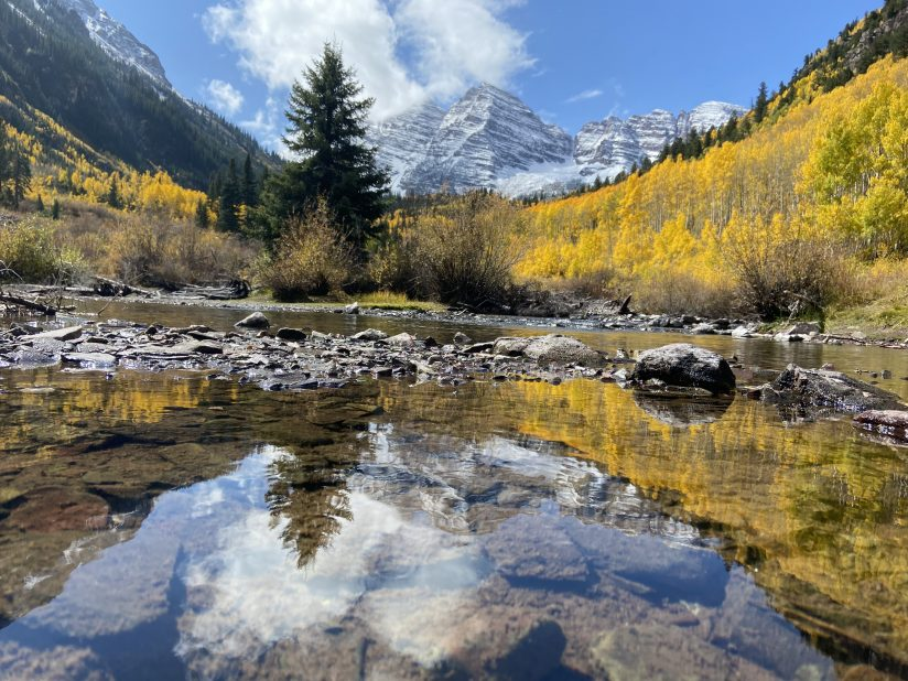 Maroon Bells and Clouds