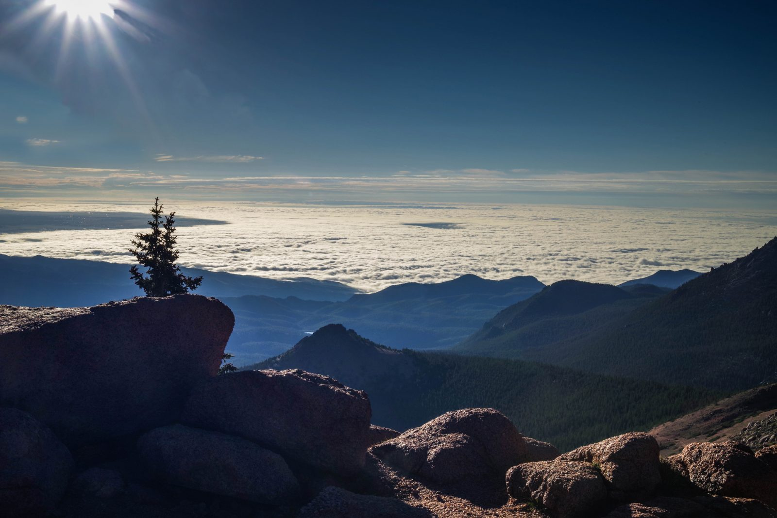 Sentinels Over a Sea Of Clouds