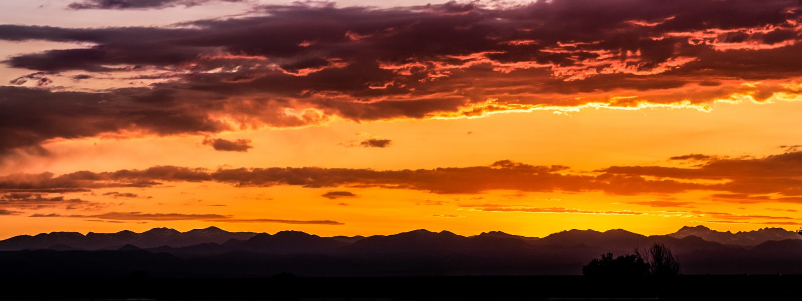 Sunset Pano over the Rockies