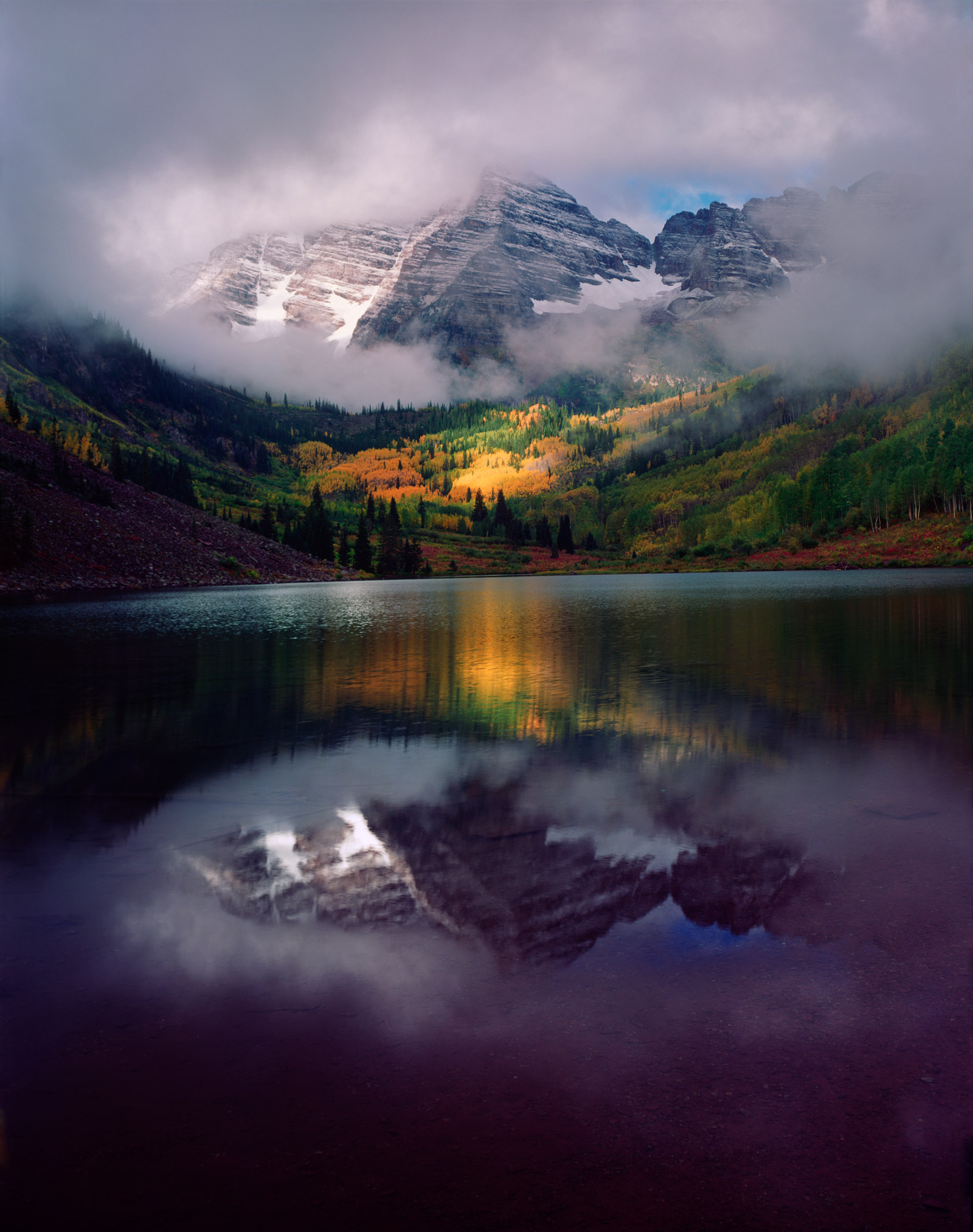 Maroon Bells and Maroon Lake