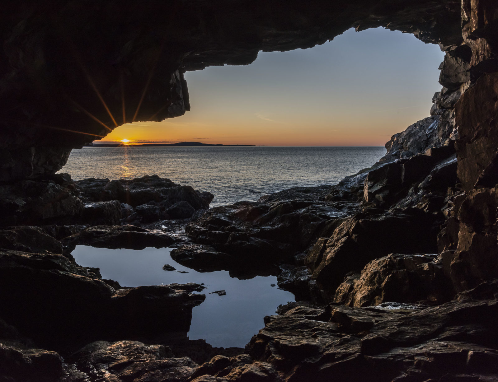 Sunrise at Anemone Cave