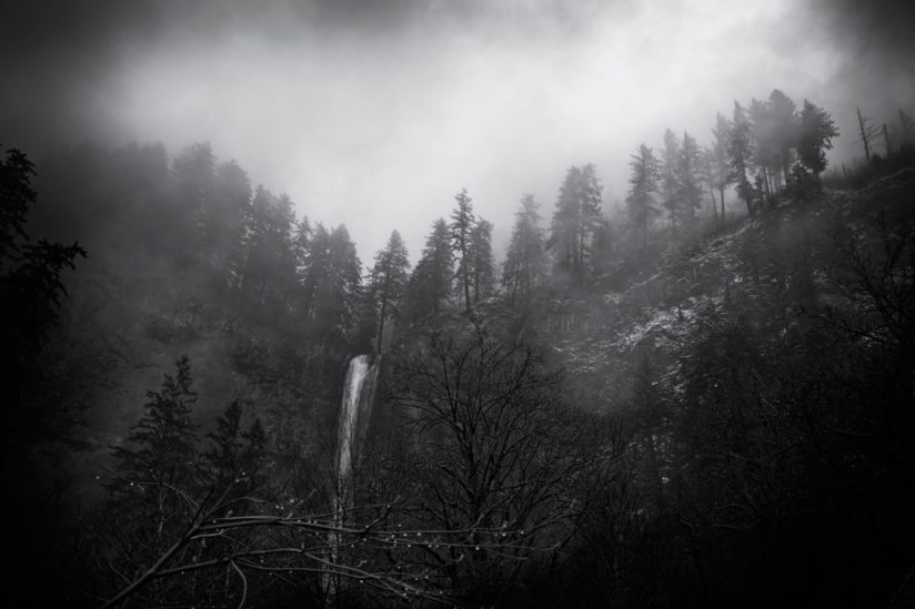 Multnomah Falls in Mist