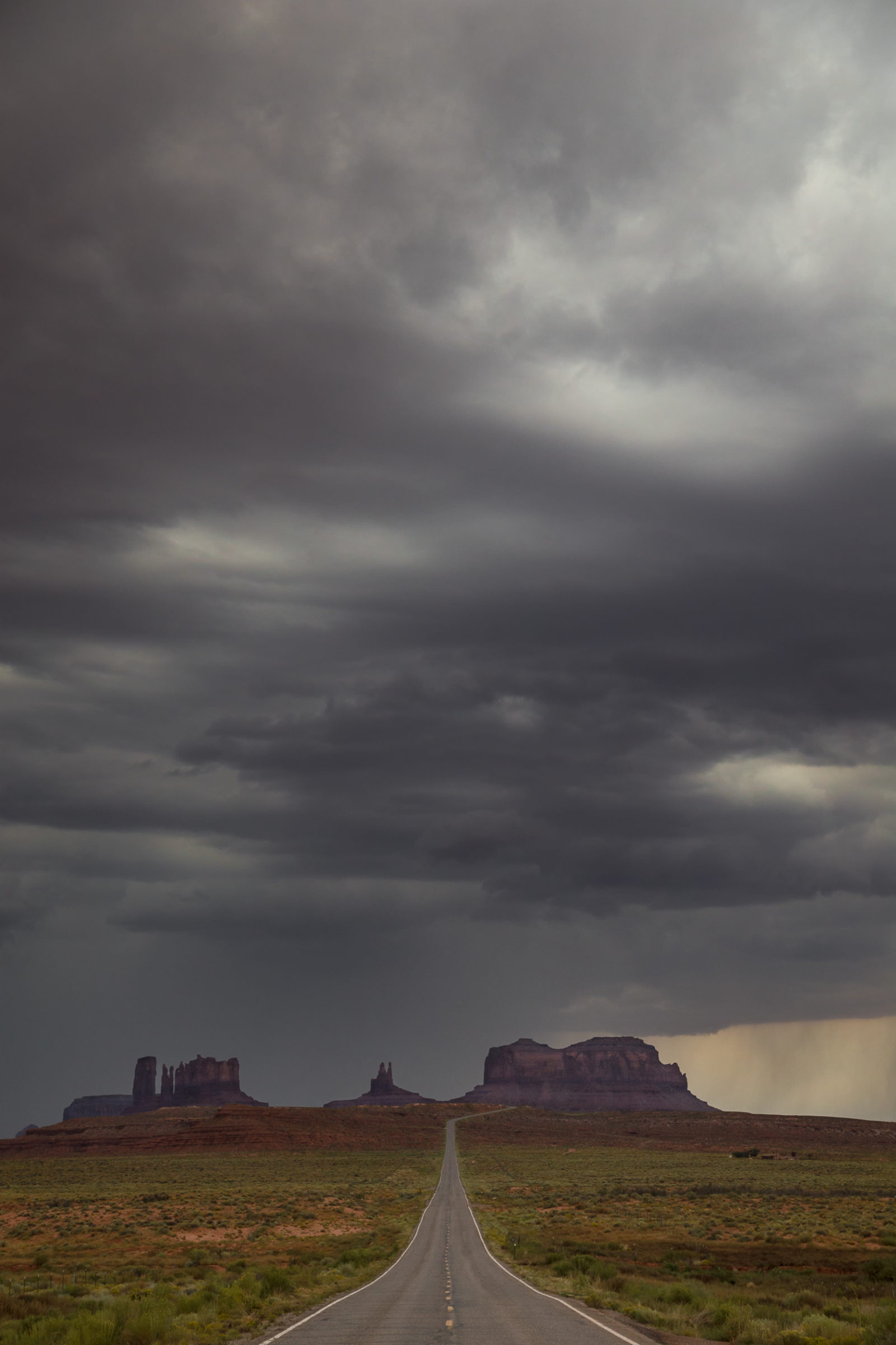 Summer Storm Over Monument Valley