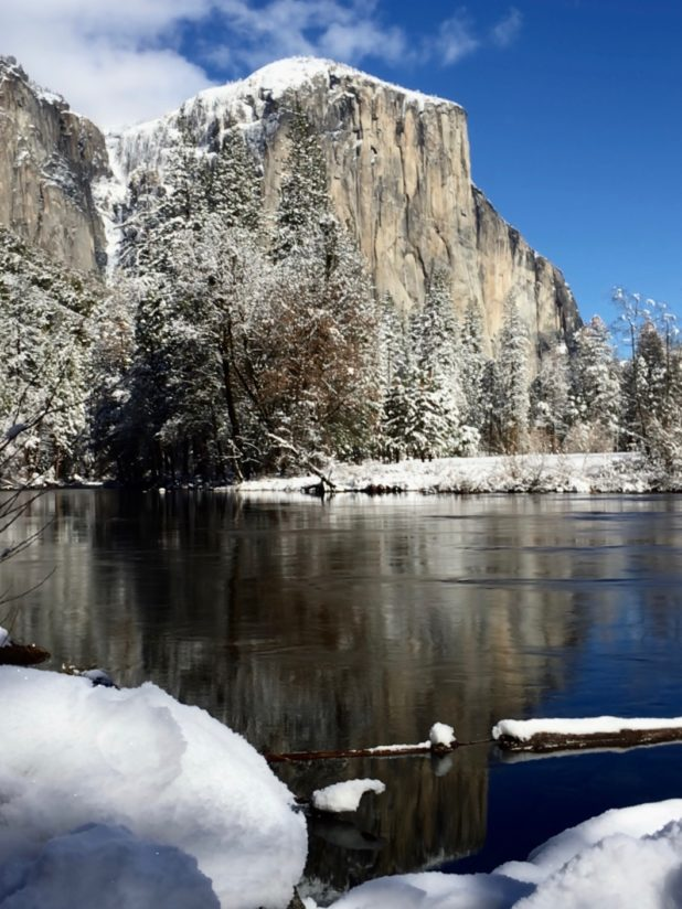 El Capitan Reflection After Snow Storm