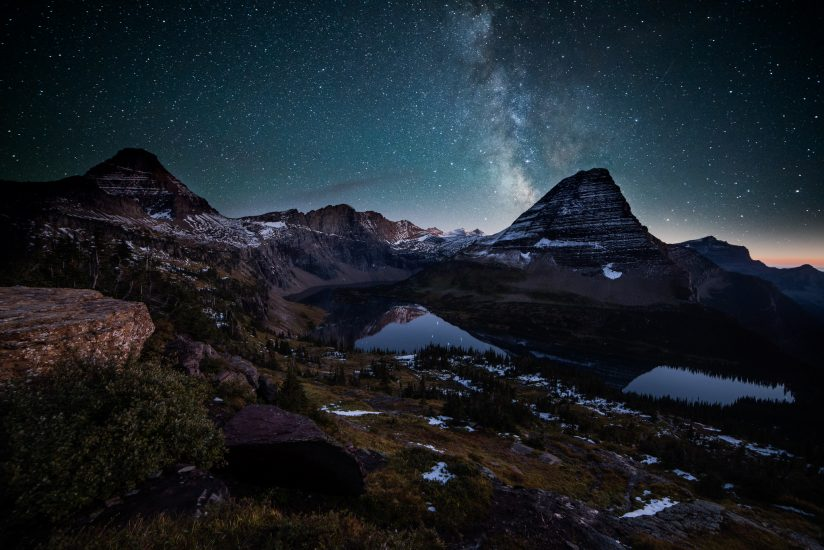 Night Views of Hidden Lake
