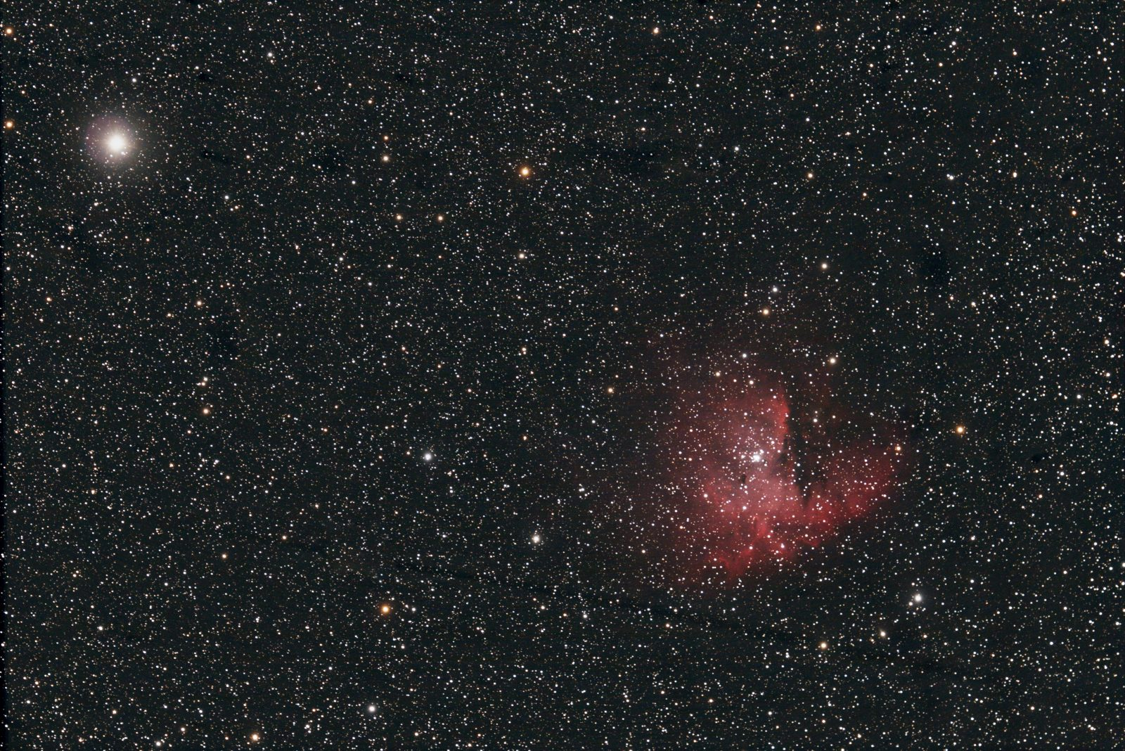 NGC 281 – The Pac Man Nebula in Cassiopeia