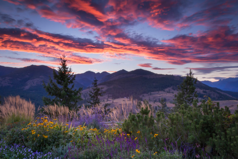 Sunset over the Methow Valley