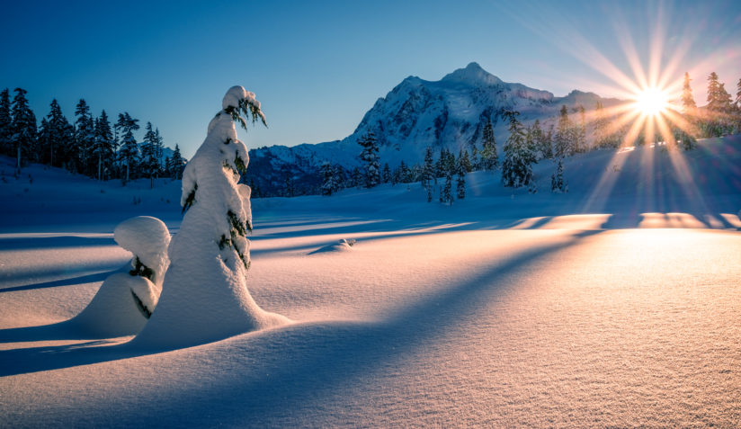 Mt Shuksan Winter Morning