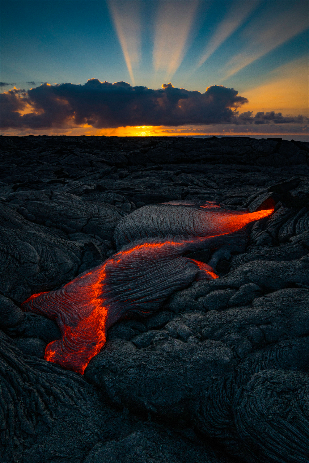 Sunrise on the lava field