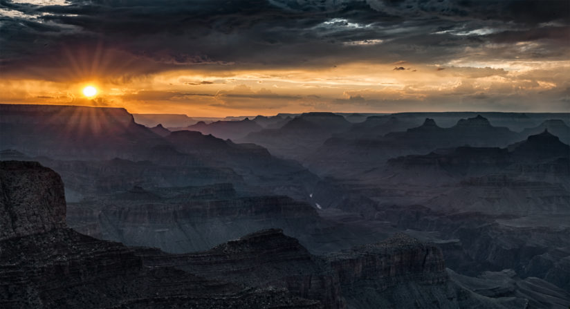 Sunset from Moran Point, Grand Canyon