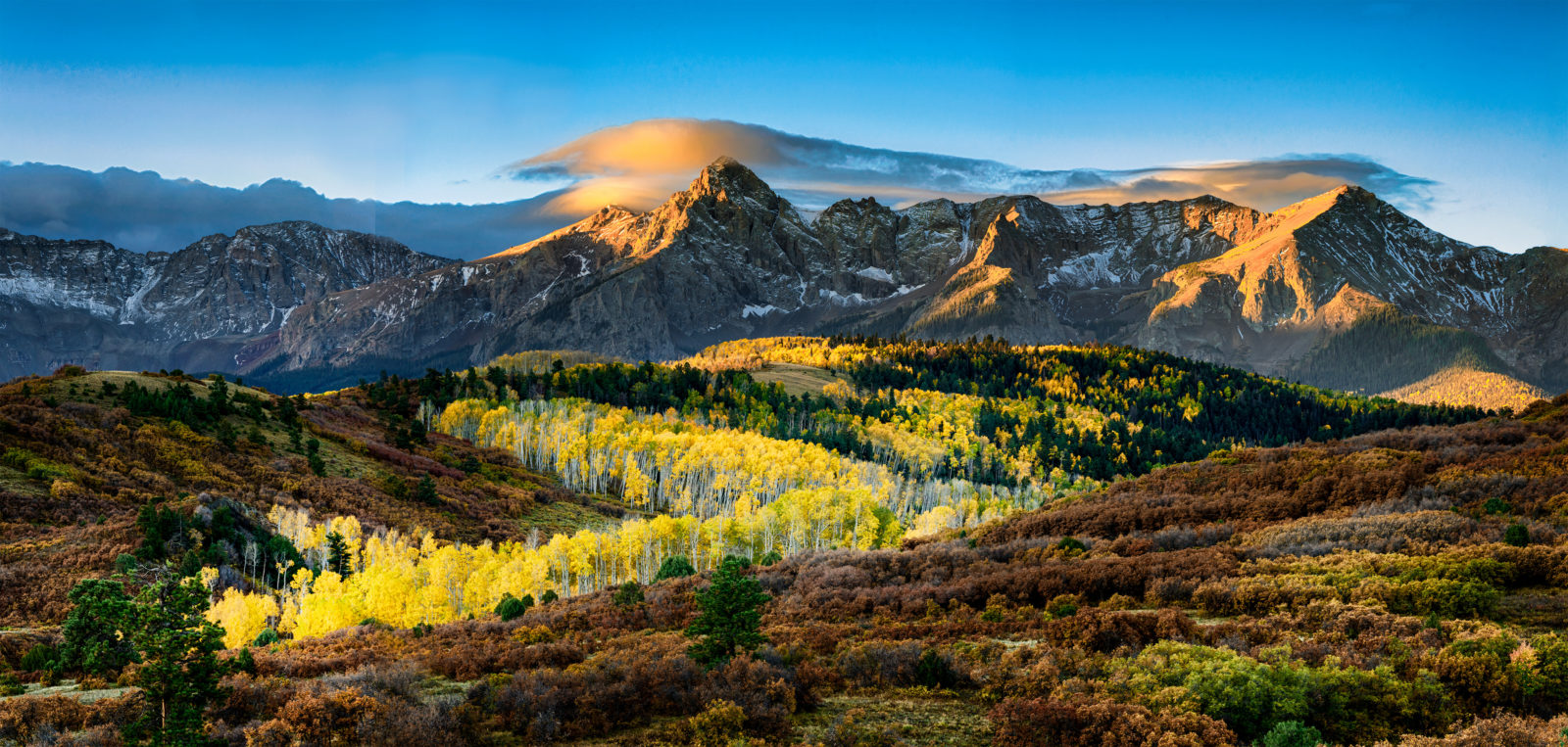 Sunrise over the Dallas Divide, Colorado