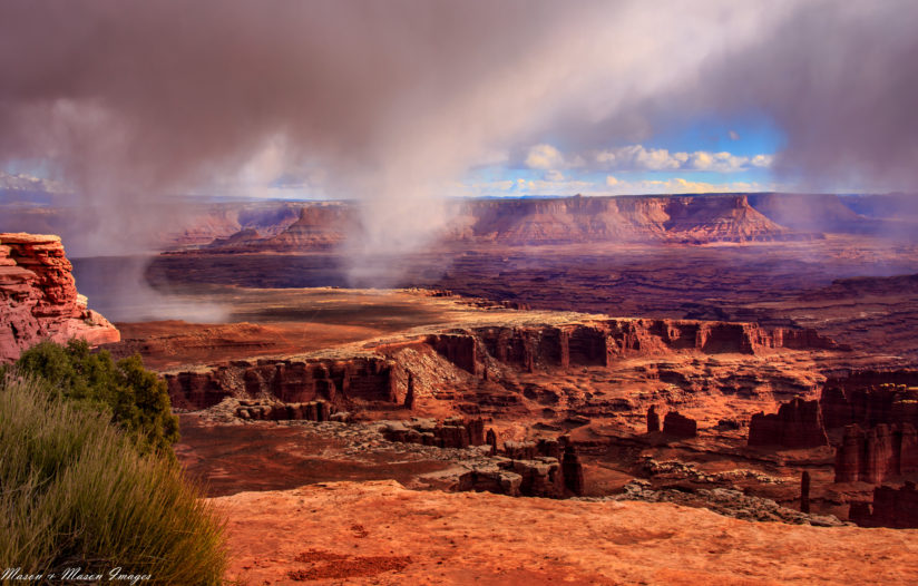 Rainburst Over Canyonlands